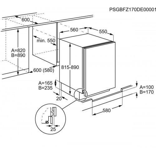 Külmik Electrolux, integreeritav, kambriga, 82-87cm, A+, 37dB, mehaaniline juhtimine