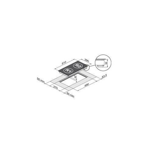 Pliidiplaat Scanberg, 2 x Induktsioon, 30cm, must, faasitud serv