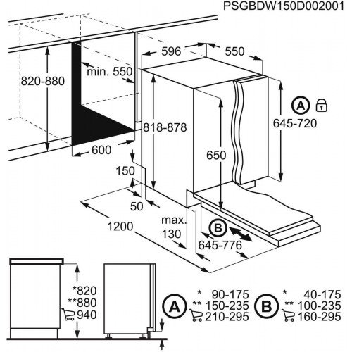 Nõudepesumasin Electrolux, integreeritav, A+, 60 cm, 47 dB