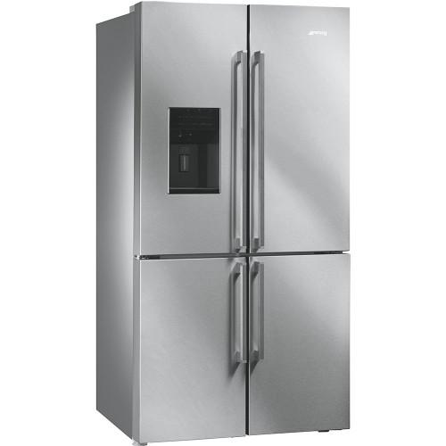 Külmik Smeg, 4 uksega, 185cm, A+, 43 dB, puutetundlik, jäämasin, RV teras