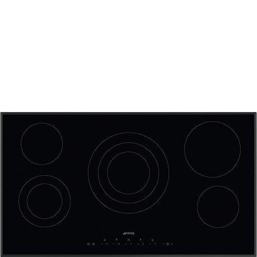 Pliidiplaat Smeg, 5 x HighLight, 90 cm, must, faasitud serv