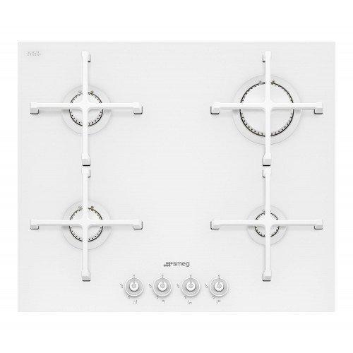 ¤Pliidiplaat Smeg Linea, 4 x gaas, 60 cm, valge, lõigatud serv