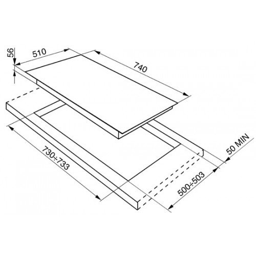Pliidiplaat Smeg, Linea, 5 x gaas, 75cm, hõbedane, RV-teras