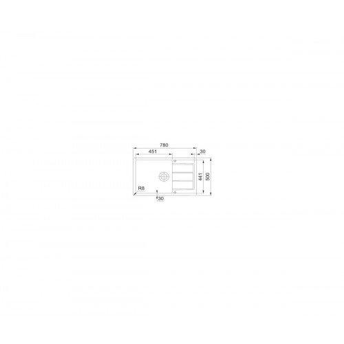 Valamu Franke SID 611-78 XL (nupuga avatav) Carbon + segisti SIRIUS väljatõmmatava dušivoolikuga kroom/onyx