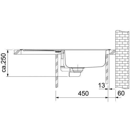 Valamu Franke EFL 614-78 valamu , roostevaba teras linane, pööratav