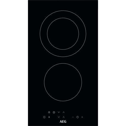 Pliidiplaat AEG, Domino, 2x HighLight, 29 cm, must
