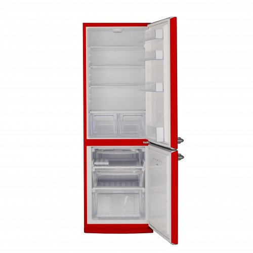Külmik Bravatec Retro, sügavkülmik all, 186 cm, A++, 42 dB, punane