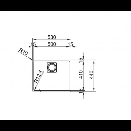 Valamu KWC ZOE 210-50, rv teras
