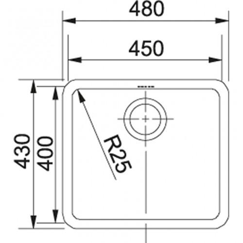 Valamu Franke KBX 210/610-45 (vajutusnupp)