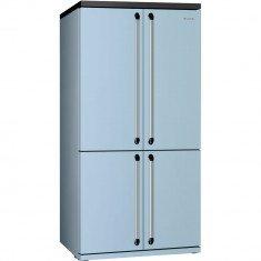 Külmik Smeg Victoria, nelja uksega, 187cm, A+, 46 dB, elektrooniline juhtimine, pastellsinine