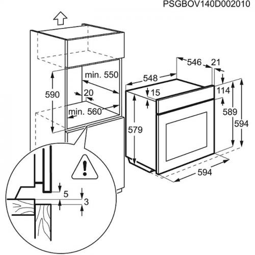 Ahi Electrolux, 74 l, A, pürolüüs, RV teras