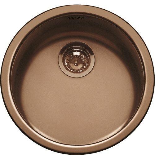 Valamu Smeg Alba, 37,5 cm, alt monteeritav, käsitsi, rv-teras, vask