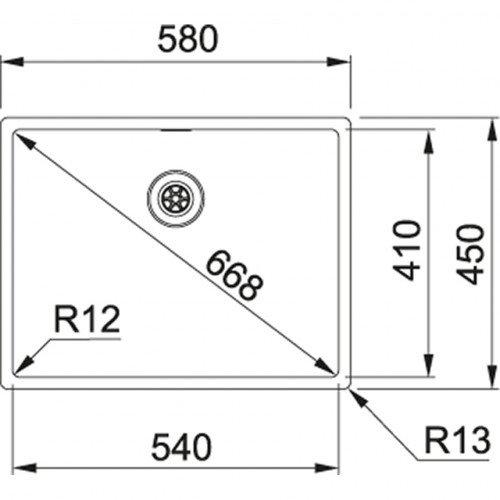 Valamu Franke BXX 210/110-54 (nupuga avatav)