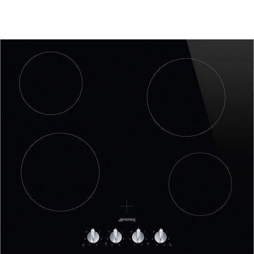 Pliidiplaat Smeg, 4 x HighLight, 60 cm, must, lõigatud serv