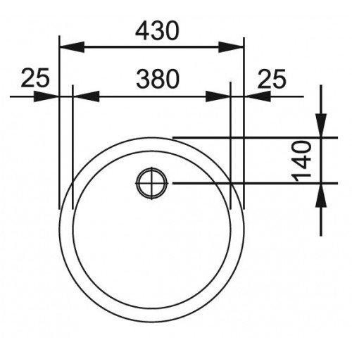 Valamu Franke RAN 610-38 , roostevaba teras matt (tööstusversioon, washed)