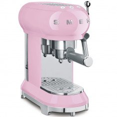 Espresso kohvimasin Smeg, 50`ndate stiil, roosa