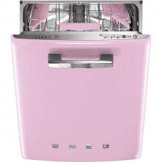 Nõudepesumasin Smeg, integreeritav, 50-ndate stiil, 60cm, A+++, 43 dB, roosa