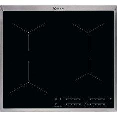 Pliidiplaat Electrolux, 4 x induktsioon, 58 cm, must, RV raamiga