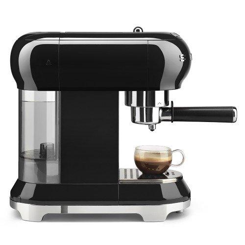 Espresso kohvimasin Smeg, 50`ndate stiil, must