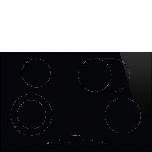 Pliidiplaat Smeg, 4 x HighLight, 80 cm, must, lõigatud serv