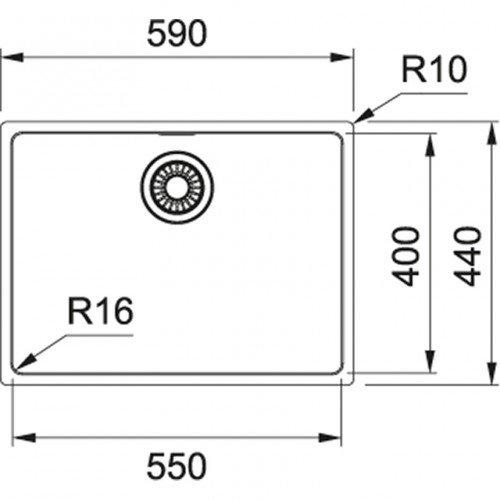 Valamu Franke MARIS, MRX 110-55 sealh. ventiil, käsitsi avatav, vääristeras