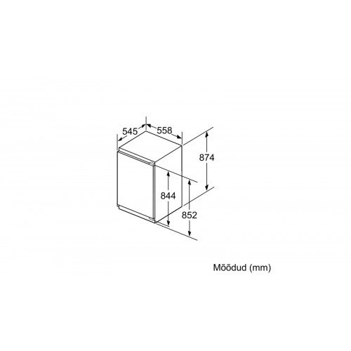 Sügavkülmik Bosch, integreeritav, 88 cm, A++, 36 dB, mehaaniline juhtimine