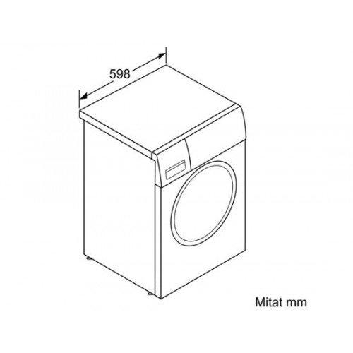 Pesumasin Bosch, Home Professional, eestlaetav, 9 kg, 1600 p/min, A+++ -30%, valge