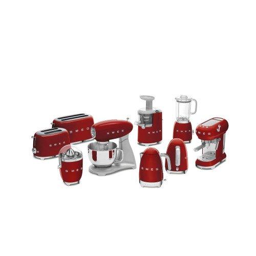 Espresso kohvimasin Smeg, 50`ndate stiil, punane