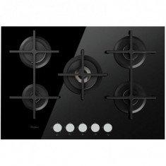 Pliidiplaat Whirlpool, 5 x gaas, 73 cm, must