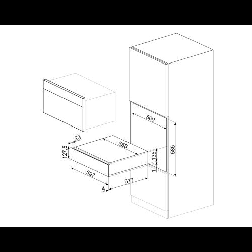 Tarvikute sahtel Smeg Classic, H 15, rv teras