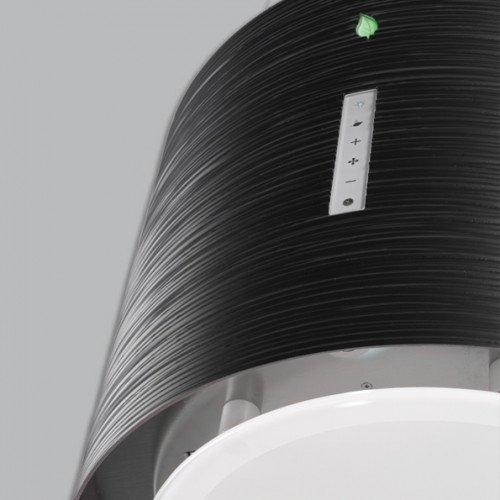 Salongi näidis! Saare (rippuv) õhupuhastaja Falmec TWISTER E-ION 45cm, 450 m3/h, LED 4x1,2W (3200K), must